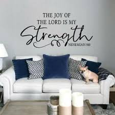 Christian The Joy Of The Lord Is My Strength Nehemiah 8 10 Scripture Wall Decal Ebay