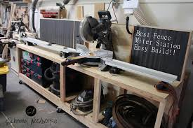 Fast And Easy Miter Saw Station And Wood Storage Using The Best Fence By Fastcap Miter Saw Mitre Saw Station Wood Storage