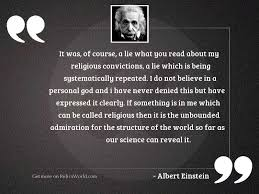 it was of course a inspirational quote by albert einstein
