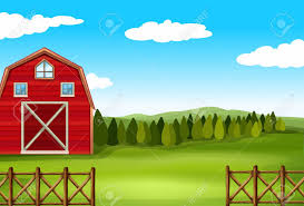 Barn On A Farm With Fence Royalty Free Cliparts Vectors And Stock Illustration Image 40399450