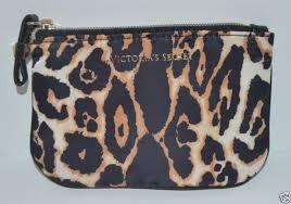 leopard satin makeup bag coin purse