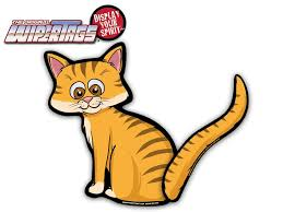 Orange Tabby Cat Wagging Waving Tail Wipertags For Rear Wiper Blades Wipertags