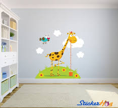 Giraffe Height Chart Wall Decal Animals Insects Wall Decals Shop By Theme