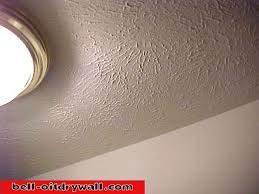 drywall on textured ceiling