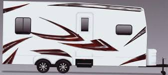 Rv Trailer Camper Motorhome Large Vinyl Decals Graphics Etsy
