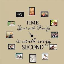 Time Spent With Family Is Worth Every Second Art Wall Stickers Home Decals V Home Garden Children S Bedroom Boy Decor Decals Stickers Vinyl Art