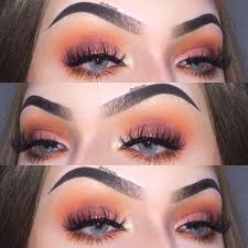eyemakeuporange eye makeup bridal