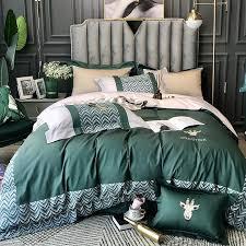 nordic style luxury pink deer bedding