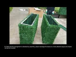 Artificial Boxwood Hedge Installation Guide Youtube
