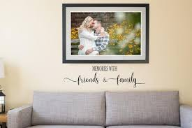 Memories With Friends And Family Wall Vinyl Decal Sticker Etsy