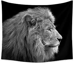 wild animal tapestry african lion wall