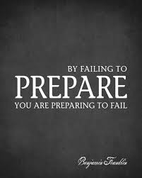 By Failing To Prepare You Are Preparing To Fail Benjamin Franklin Quote Removable Wall Decal Keep Calm Collection