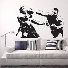 Amazon Com Us Wall Decals Boxing Girl Vinyl Wall Decal Boxer Gym Sports Woman Fighting Club Stickers Mural 22 X 22 Custom Kitchen Dining