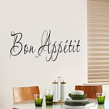 Ufengke Bon Appetit French Quotes And Sayings Wall Decals Living Room Bedroom Removable Wall Stickers