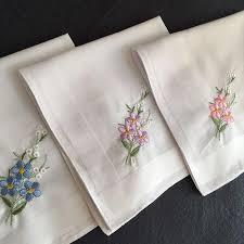 women white cotton handkerchief