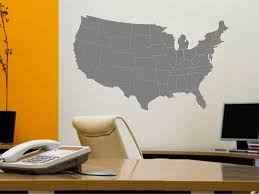 Ik2250 Wall Decal Sticker Usa Map States Living Room Bedroom Office Stickersforlife