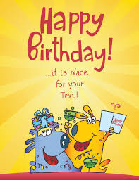 funny cartoon birthday cards vector 04