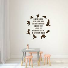 Amazon Com Beatles Blackbird Wall Decal Inspirational Song Lyrics Vinyl Lettering With Bird Silhouettes Music Themed Mural Sticker Handmade