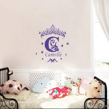 Custom Girls Name Vinyl Wall Sticker Crown Wall Art Decal Personalized Wall Stickers Stickers For Wall Decoration Stickers For Walls From Flylife 8 05 Dhgate Com