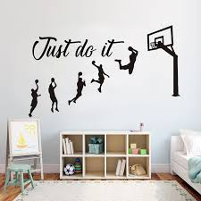Basketball Just Do It Wall Decal Basket Stickers Decals Etsy