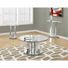 monarch 3 piece mirrored coffee table