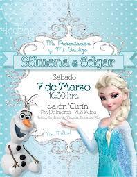 Frozen Elsa Y Olaf Tiffany Invitaciones Cumpleanos Frozen