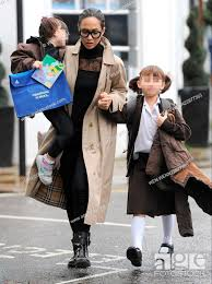 Myleene Klass takes her daughters Hero Harper Quinn and Ava Bailey Quinn to  school on a rainy..., Stock Photo, Picture And Rights Managed Image. Pic.  WEN-WENN22877365 | agefotostock