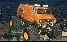 Rolling Thunder   Monster trucks, Trucks, Dodge van