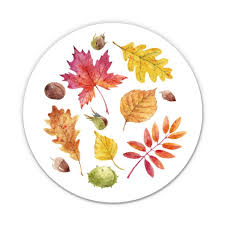 Watercolor Fall Leaves Pretty Foliage Maple 5 Vinyl Sticker For Car Laptop I Pad Waterproof Decal Walmart Com Walmart Com