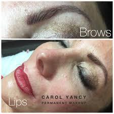 permanent make up lip contour blush