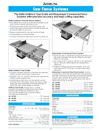 Saw Fence Systems The Delta Unifence Specifications Delta 36 751 User Manual Page 23 30