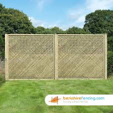 Rectangle Diamond Privacy Trellis Fence Panels 2ft X 6ft Brown Berkshire Fencing