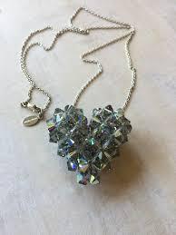 swarovski large crystal puffy heart