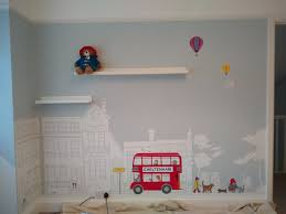 Carren Lu On Twitter Paddingtonbear Visits Cheltenham I Love Painting This Mural Of Paddington Bear Surrounded By Cheltenham S Architecture Who Said Unisex Nurseries Had To Be Beige 3 More Walls To