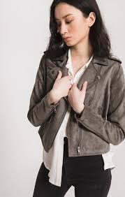 Pin by Ada Marshall on Favs | Biker jacket, Faux suede fabric, Jackets