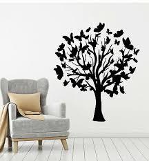Vinyl Wall Decal Tree Nature Butterflies Living Room Stickers Mural G3149 Ebay