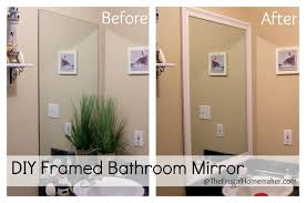 how to frame your bathroom mirrors