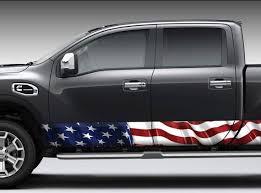 Waving American Flag Rocker Panel Graphic Decal Wrap Kit Truck Etsy