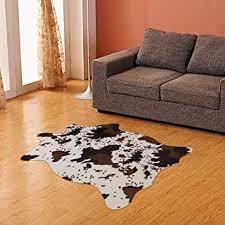 cow print rug faux cowhide area rug