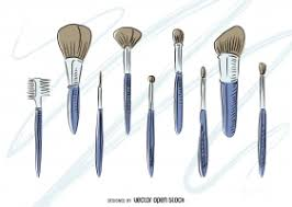 makeup brushes free vector graphic art