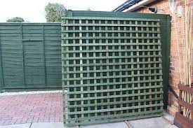 Garden Fence Trellis Panels 6 X6 Posts Read Description 1 2 The Price B Q 22 50 Picclick Uk