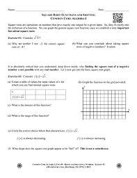 square roots common core algebra 1
