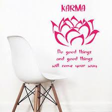 wall vinyl decal room sticker yoga buddha quote gym lotus flower