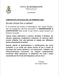 Due casi di Coronavirus in Campania. Uno positivo, l'altro in ...