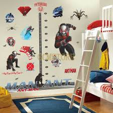 Ant Man Measuring Height 3d Wall Stickers For Nursery Baby Room Nursery Wall Stickers Nursery Baby Room Wall Stickers