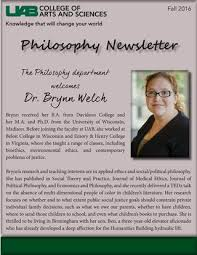 Fall 2016 Philosophy Newsletter by Kristy Barlow - issuu