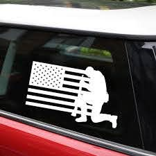 1pcs Car Stickers And Decals American Soldier American Flag Car Sticker 15 9cm Window Bumper Motorcycles Car Styling Waterproof Vinyl Decal Wish