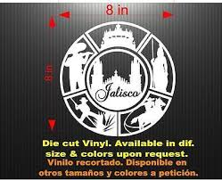 Wall Jeyfel Decals Vinyl Decal Sticker Window Emblema Jalisco Car Mexico Sports Outdoors Decals