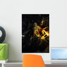 Boba Fett Fighting Off Wall Decal Wallmonkeys Com