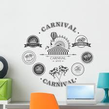 Carnival Vintage Badges Wall Decal Wallmonkeys Com